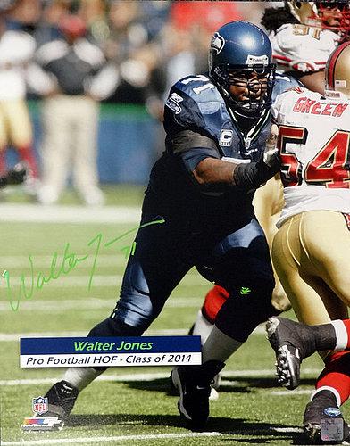 Walter Jones Signed Seattle Seahawks Mini Helmet w//COA Hall of Fame 2014 #1