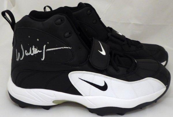 Walter Jones Autographed Signed Nike Cleats Shoes Seattle Seahawks Black / White MCS Holo Stock #158443