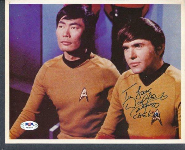 Walter Koenig Autographed Signed 8X10 Photo Autograph Auto PSA/DNA