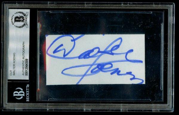 Walter Koenig Autographed Signed Autograph Auto 1.5X2.5 Cut Pavel Chekov In Star Trek Beckett