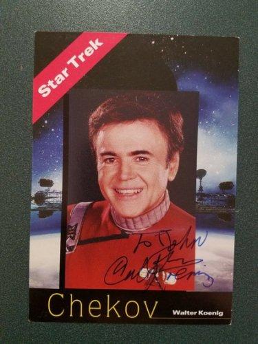 Walter Koenig Autographed Signed (Chekov) - Photo - JSA COA