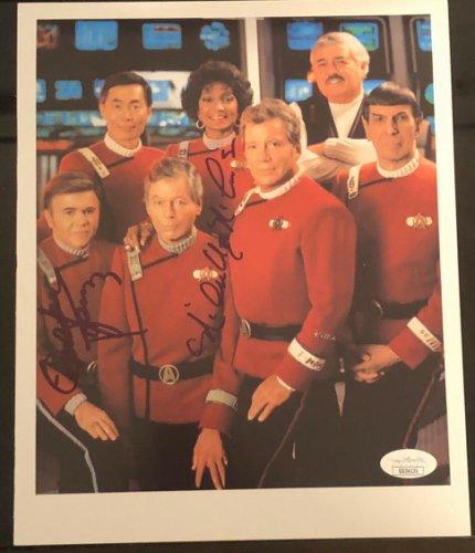 Walter Koenig Autographed Signed Star Trek Nichelle Nichols 8X10 Photograph JSA COA