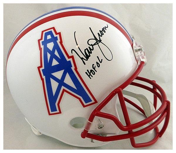 6995eff09 Warren Moon Autographed Signed Houston Oilers Full Size Replica Helmet HOF  06 - Certified Authentic