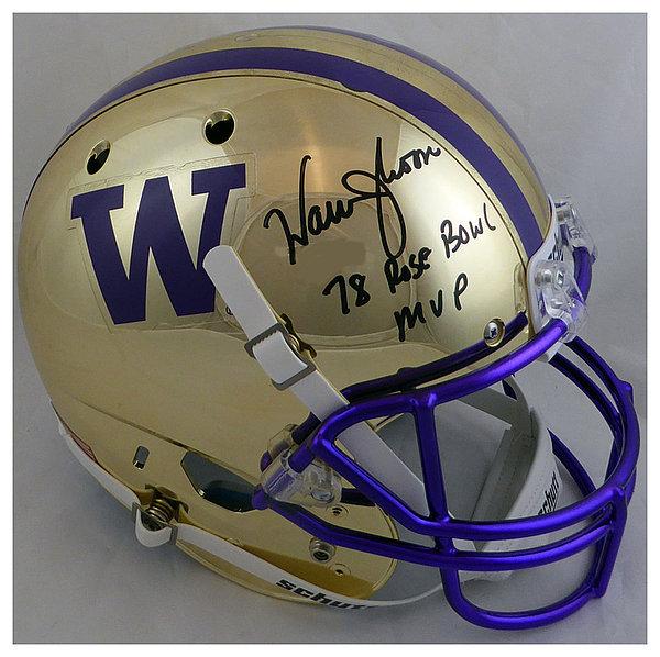 more photos 75714 f3c28 Warren Moon Autographed Signed Washington Huskies Full Size ...