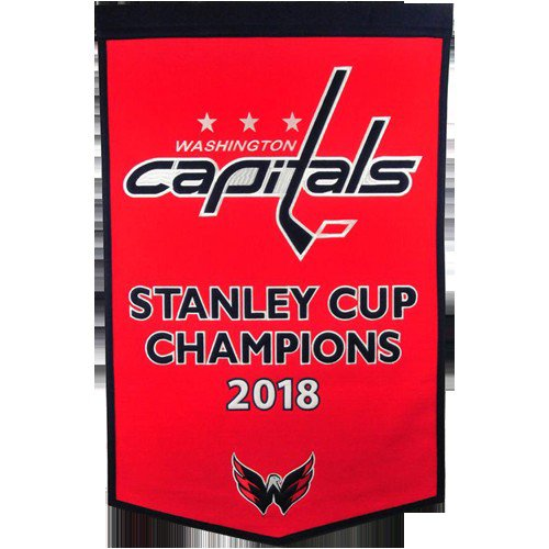 Washington Capitals Stanley Cup Championship Dynasty Banner - with hanging rod