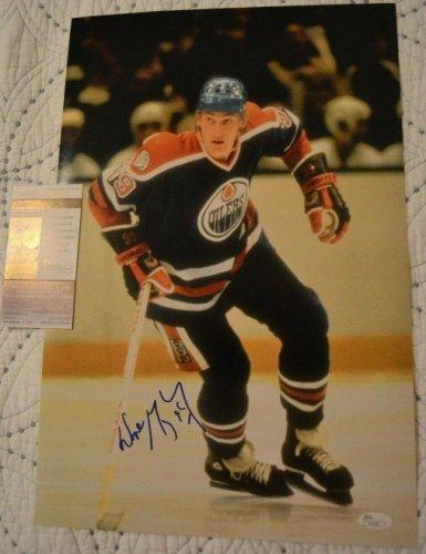Wayne Gretzky Autographed Signed 12X18 Photo With JSA COA Edmonton Oilers