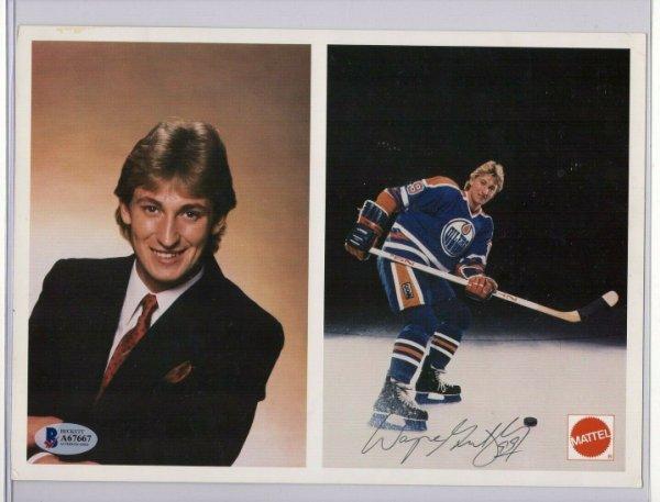 Wayne Gretzky Autographed Signed 1980'S Mattel Edmonton Oilers 8X10 Photo Beckett Autograph COA