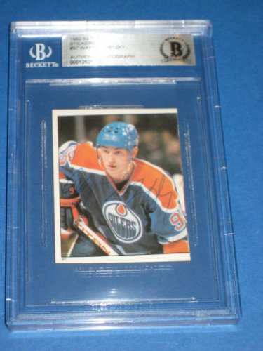 Wayne Gretzky Autographed Signed 1982-83 Topps Stickers Card #97 Beckett Authenticated