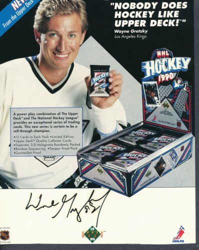 Wayne Gretzky Autographed Signed 8X10 Magazine Page Autograph Auto PSA/DNA