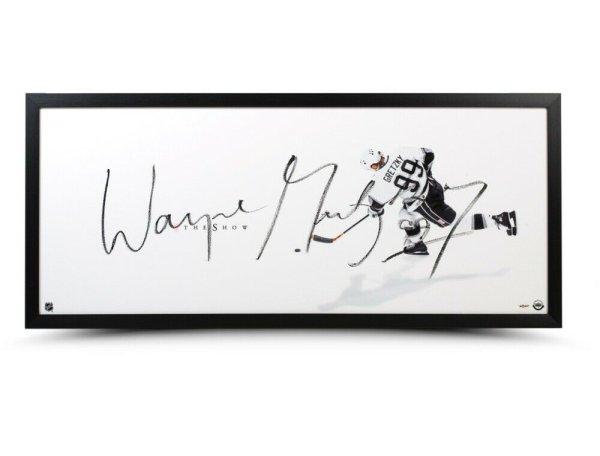 Wayne Gretzky Autographed Signed Autographed 20X46 Framed Photo The Show La Kings UDA