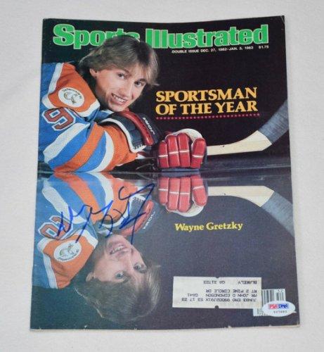 Wayne Gretzky Autographed Signed Autographed Sports Illustrated Magazine PSA/DNA Loa Y07693