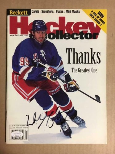 Wayne Gretzky Autographed Signed Hockey Beckett Magazine With JSA COA