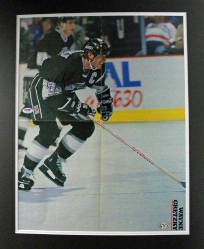Wayne Gretzky Autographed Signed Kings Authentic & Matted Magazine Poster PSA/DNA