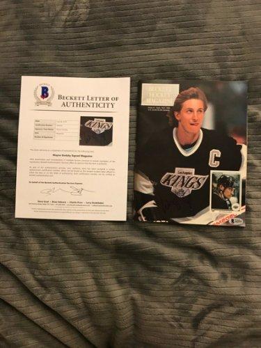 Wayne Gretzky Autographed Signed La Kings Hockey Beckett Autographed Beckett Loa