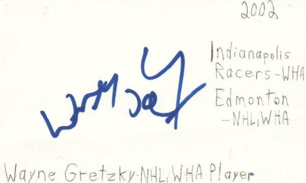 Wayne Gretzky Autographed Signed NHL Wha Player Hockey HOF Signed Index Card JSA COA