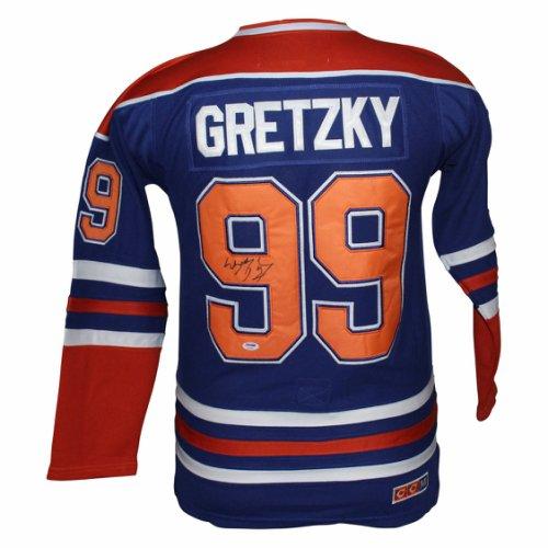6a625524 Wayne Gretzky Edmonton Oilers Autographed Signed CCM Jersey - PSA/DNA Full  Letter Authenticity