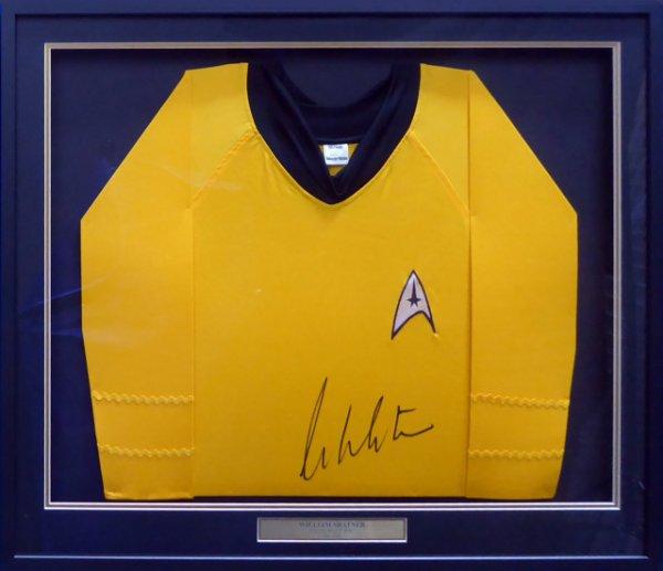 William Shatner Autographed Signed Framed Star Trek Uniform Shirt JSA