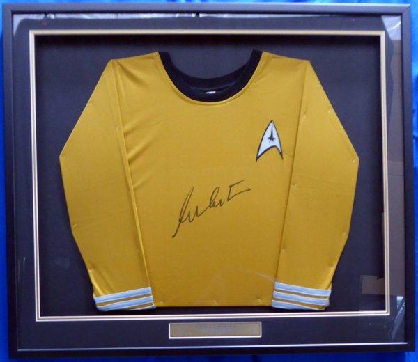 William Shatner Autographed Signed Framed Star Trek Uniform Shirt JSA Stock #160686