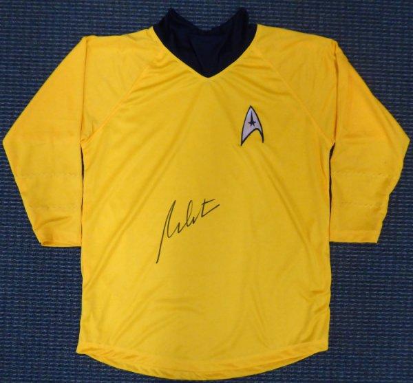 William Shatner Autographed Signed Star Trek Uniform Shirt JSA Stock #159207