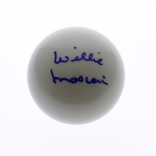 Willie Mosconi Autographed Signed Cue Ball - JSA Authentic