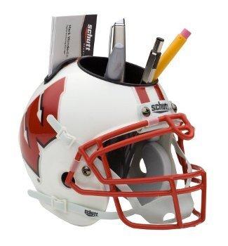 Wisconsin Badgers NCAA Football Schutt Mini Helmet Desk Caddy