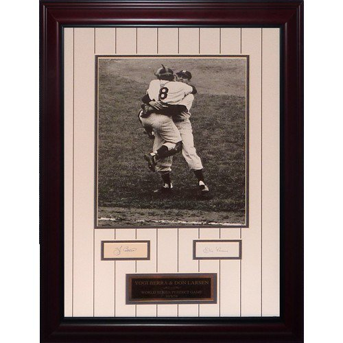 Yogi Berra And Don Larsen Autographed Signed New York Yankees (WS Perfect Game) Deluxe Framed 11X14 Photo Piece