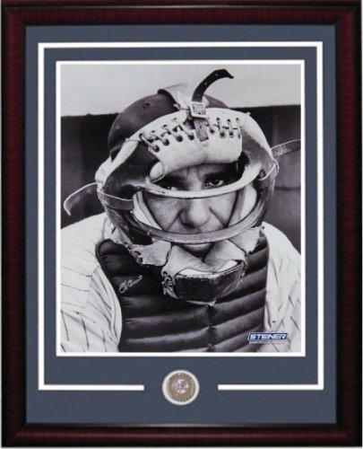 Yogi Berra Autographed Signed 16X20 Photo Framed Yankees Coin Autograph Steiner COA