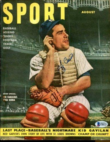 Yogi Berra Autographed Signed 1951 Sport Magazine Autographed Yankees Ex+Nice Beckett Beckett