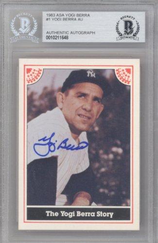 Yogi Berra Autographed Signed 1983 ASA Card New York Yankees - Beckett Authentic