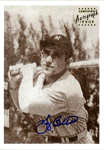 Yogi Berra Autographed Signed 2001 1948 Bowman Reprint Rookie Card #6 New York Yankees SKU # 123919