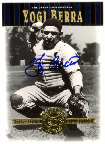 Yogi Berra Autographed Signed 2001 Upper Deck Hall Of Famers Card #45 New York Yankees - Certified Authentic