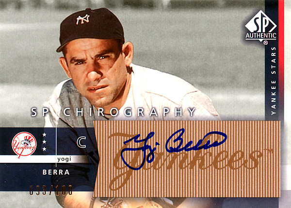 Yogi Berra Autographed Signed 2003 Upper Deck SP Chirography Card #YB New York Yankees LE #93/100 SKU # 123905