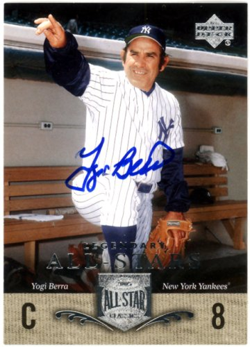 Yogi Berra Autographed Signed 2005 Upper Deck All Stars Classics Card #100 New York Yankees - Certified Authentic