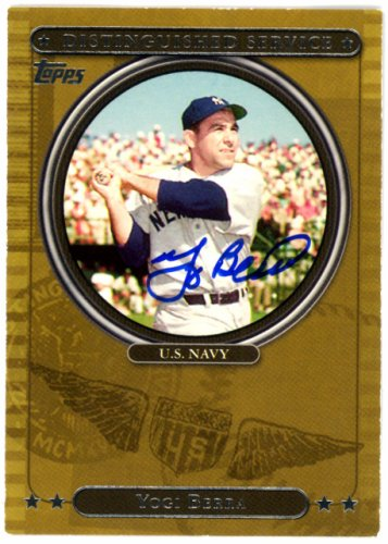 Yogi Berra Autographed Signed 2007 Topps Distinguished Service Card #DS2 New York Yankees - Certified Authentic