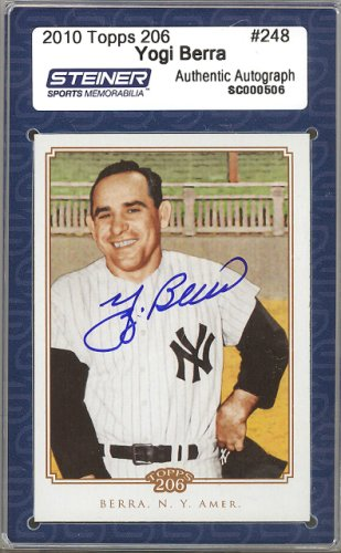 Yogi Berra Autographed Signed 2010 Topps 206 Card #248 New York Yankees Steiner Holo #SC000506