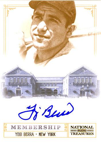 Yogi Berra Autographed Signed 2012 Panini National Treasures Card #2 New York Yankees SKU #123915