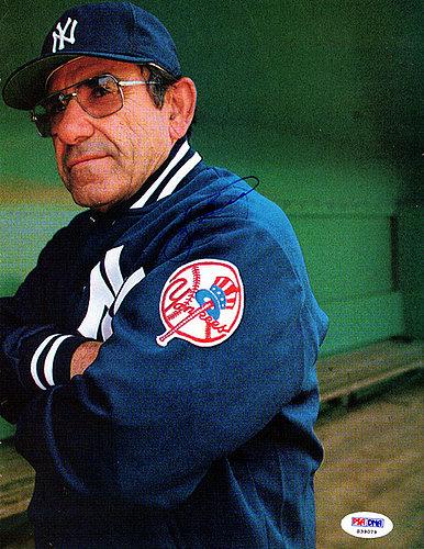 Yogi Berra Autographed Signed 8.5x11 Magazine Page Photo New York Yankees - PSA/DNA Certified