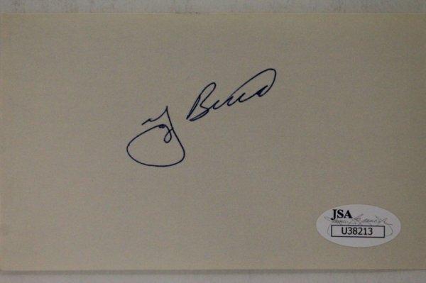 Yogi Berra Autographed Signed (D.2015) New York Yankees 3X5 Index Card Autograph JSA