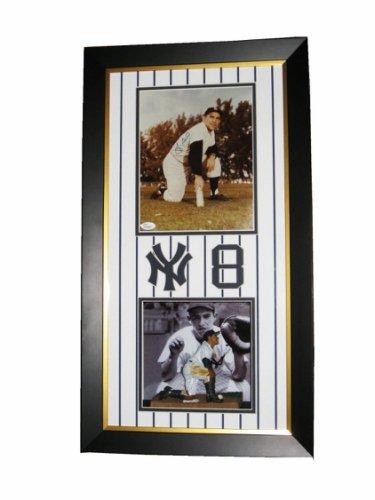 Yogi Berra Autographed Signed MLB Hand Autographed Framed Photo Shadow Box Plaqued JSA COA