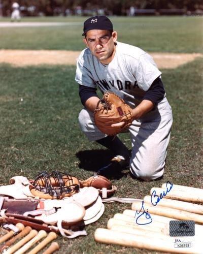 Yogi Berra Autographed Signed New York Yankees 8X10 Photo - JSA