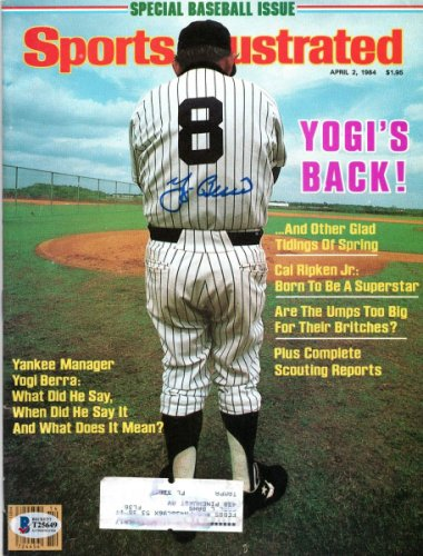 Yogi Berra Autographed Signed New York Yankees Sports Illustrated 4/2/84 Beckett Authenticated