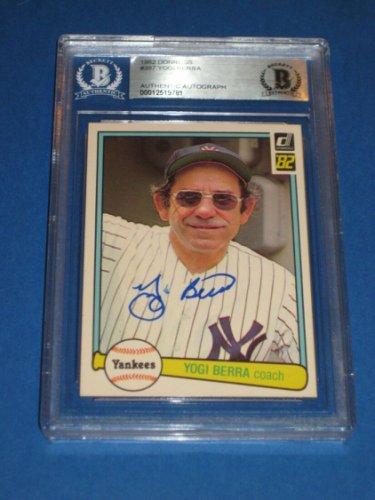 Yogi Berra Autographed Signed (Ny Yankees) 1982 Donruss Card #387 Beckett Authenticated