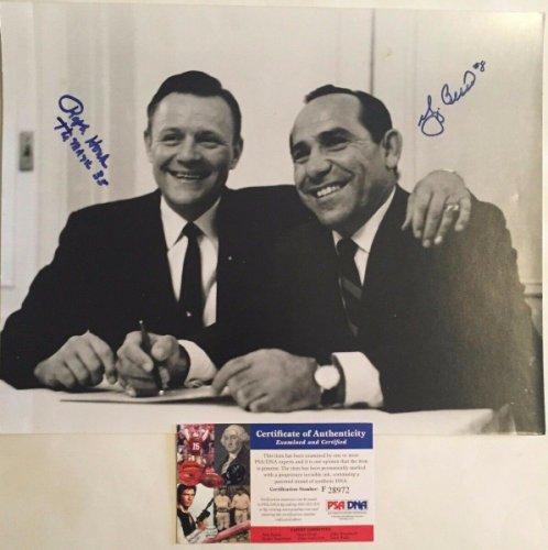 Yogi Berra Autographed Signed & Ralph Houk Dual Yankees 11X14 Photo PSA/DNA COA