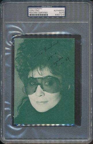 Yoko Ono Autographed Signed Photograph PSA/DNA Certified Authentic Auto Autograph *1216