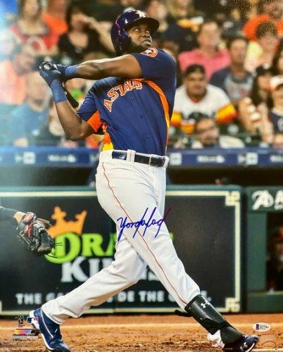 Yordan Alvarez Houston Astros Autographed Signed Blonde Baseball Bat BECKETT ROOKIE COA