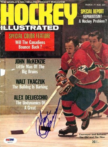 Yvan Cournoyer Autographed Signed Magazine Cover Canadiens - PSA/DNA Certified