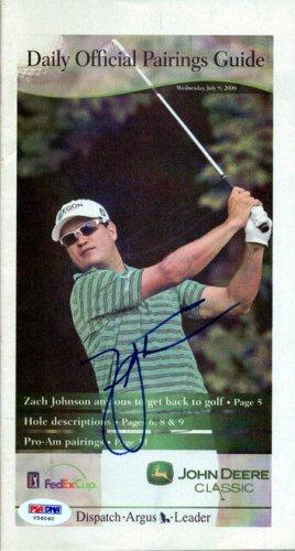 Zach Johnson Autographed Signed 5.5x10.5 Program - PSA/DNA Certified