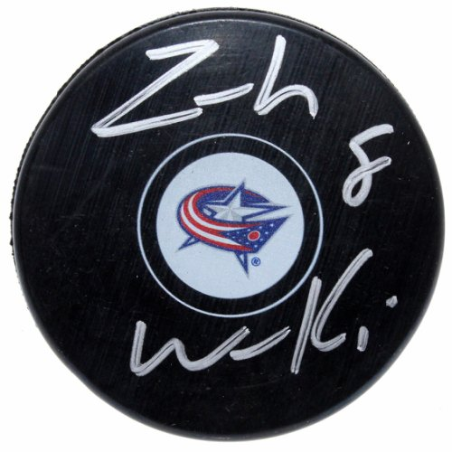 Zach Werenski Columbus Blue Jackets Autographed Signed NHL Replica Hockey Puck - PSA/DNA and Fanatics Authentication