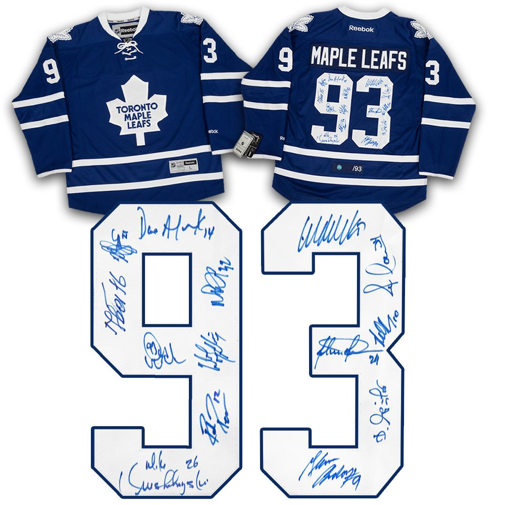 new concept 0c272 e73ff 1993 Toronto Maple Leafs Team Autographed Signed Hockey ...