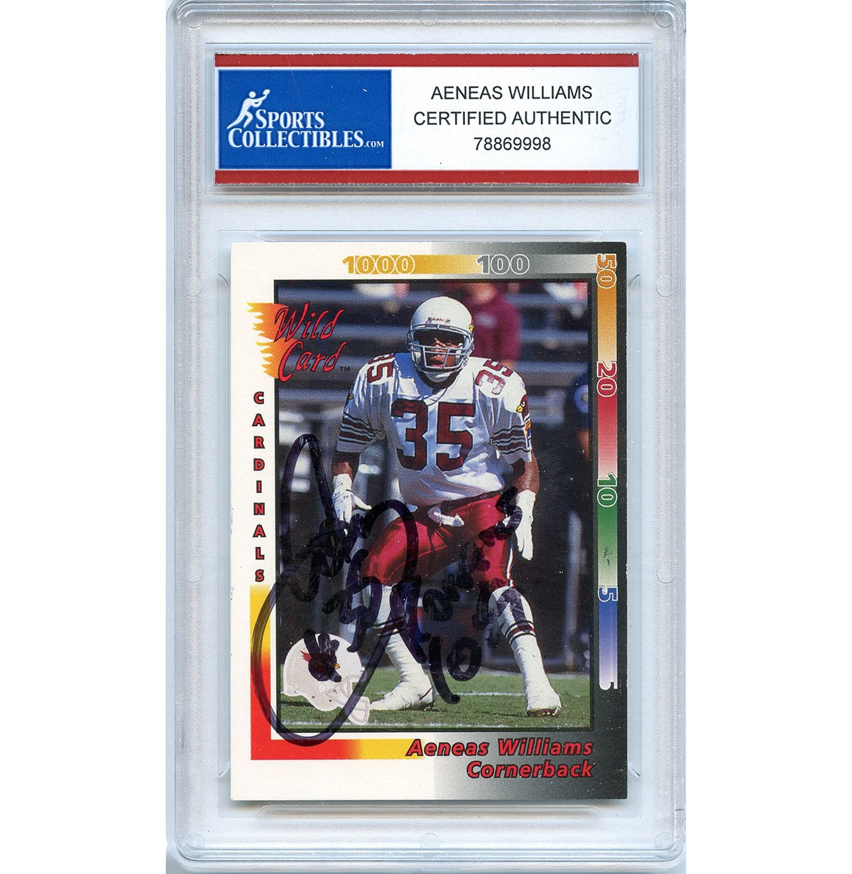 Aeneas Williams Autographed Signed 1992 AAA Sports Trading Card